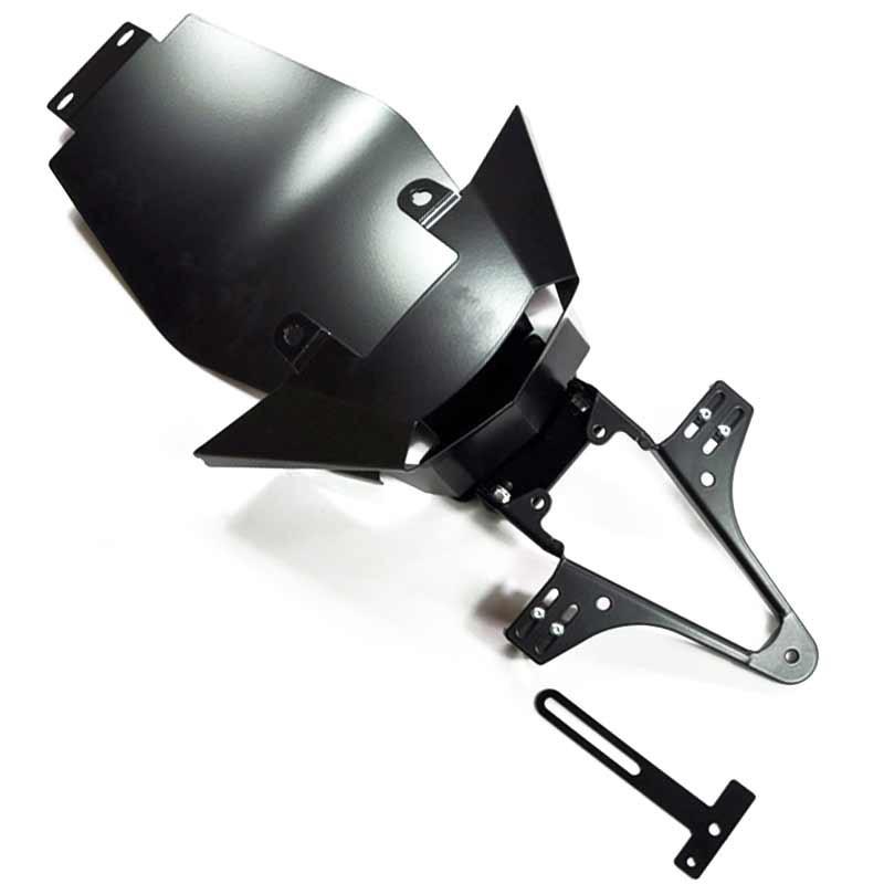 ADJUSTABLE LICENSE PLATE BRACKET FOR KTM 125 DUKE 11-16/ 200 DUKE 12-15/ 390 DUKE 13-16 - HIGHSIDER