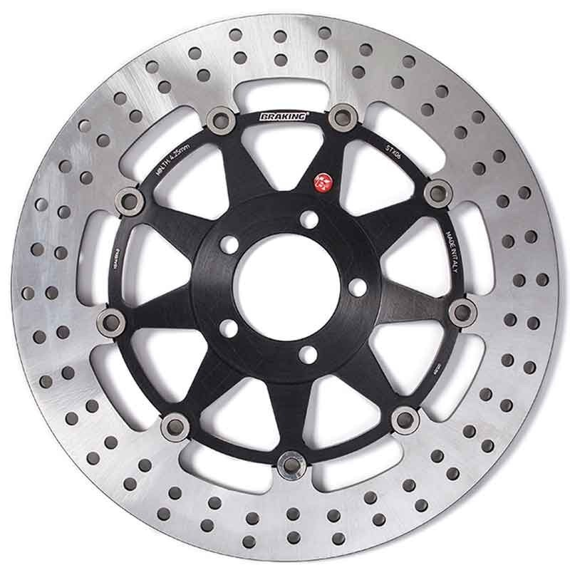 BRAKING R-STX FLOATING FRONT BRAKE DISC FOR APRILIA TUONO R (2 pads per caliper) 1000 2002-2009 - STX01