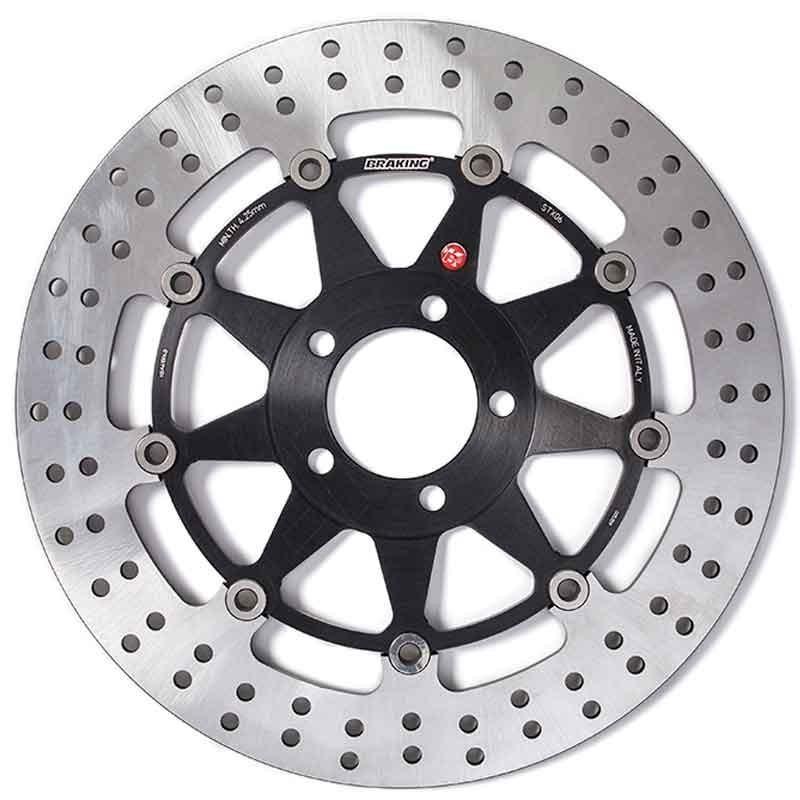 BRAKING R-STX FLOATING FRONT BRAKE DISC FOR APRILIA TUONO R (4 pads per caliper) 1000 2002-2005 - STX73