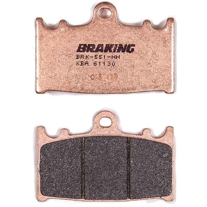 FRONT BRAKE PADS BRAKING SINTERED ROAD FOR ROYAL ENFIELD BULLET / TRIALS 500 2009-2016 (LEFT CALIPER) - CM55
