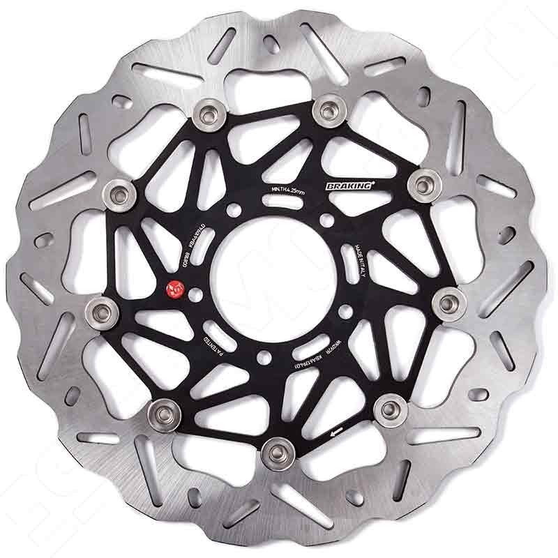 BRAKING WAVE SK2 FLOATING FRONT BRAKE DISC FOR DUCATI DIAVEL 1200 /AMG/CARBON/STRADA 2011-2017 (RIGHT DISC) - WK110R