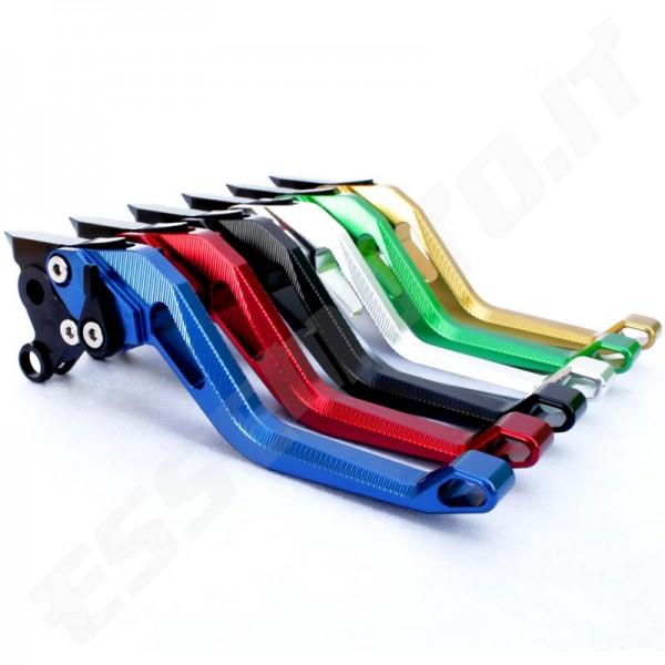 MZS cnc corto frizione freno Leve per Honda CBR 600 F2,F3,F4,F4i 1991-2007,CBR900RR 1993-1999,CB919 2002-2007,CB599//CB600 Hornet 1998-2006,NC700 S//X 2012-2013,VTX1300 2003-2008,CB400 2014 blu