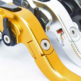 FOLDABLE CLUTCH AND BRAKE LEVERS ''WAVE'' ESSEMOTO - BL0202L