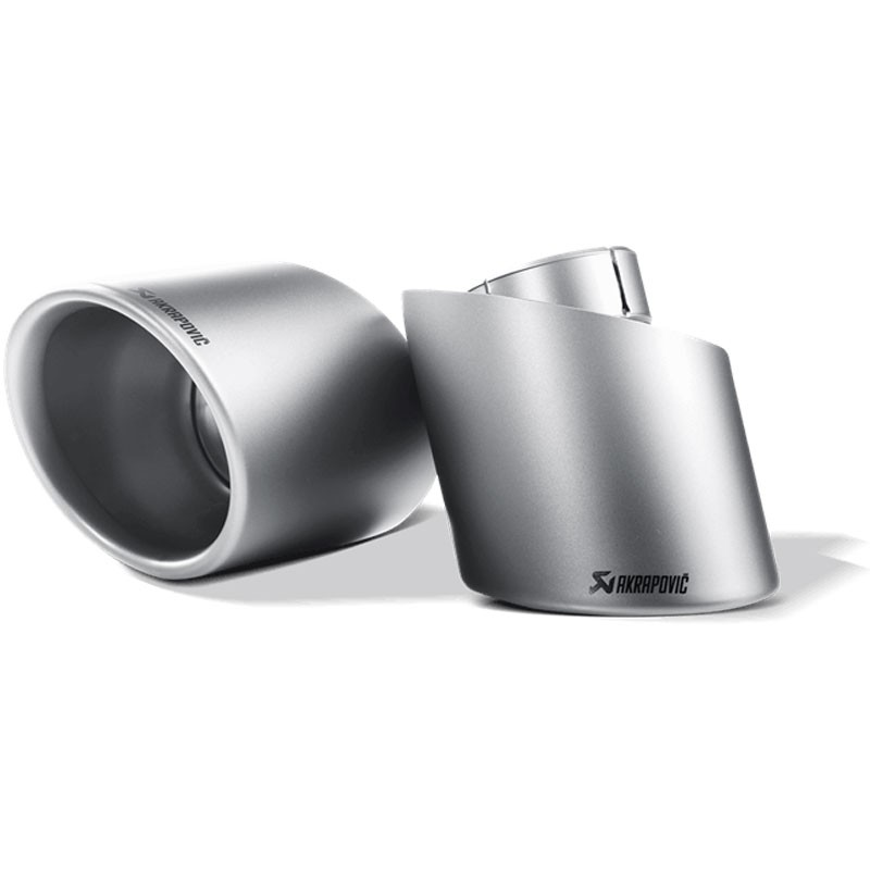 AKRAPOVIC TAIL PIPE SET IN TITANIUM FOR ABARTH 500/595 2008- 500C / 595C 2009-