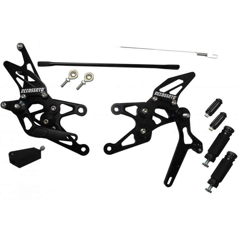 RACING REARSETS KIT ACCOSSATO YAMAHA YZF-R1 07-08