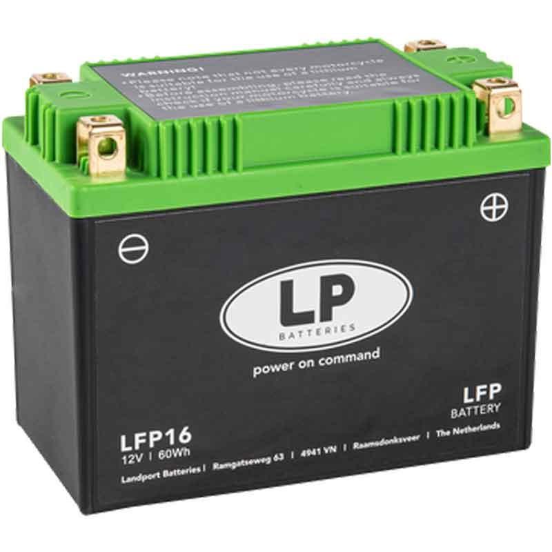 BATTERIA MOTO AL LITIO (LiFePO4) SENZA MANUTENZIONE LP - LFP16