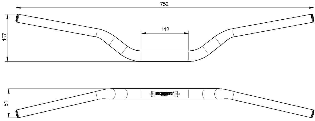 Manubrio-Sezione-variabile-Pit Bike-Hb019