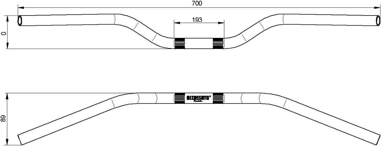 Misure Manubrio HB153